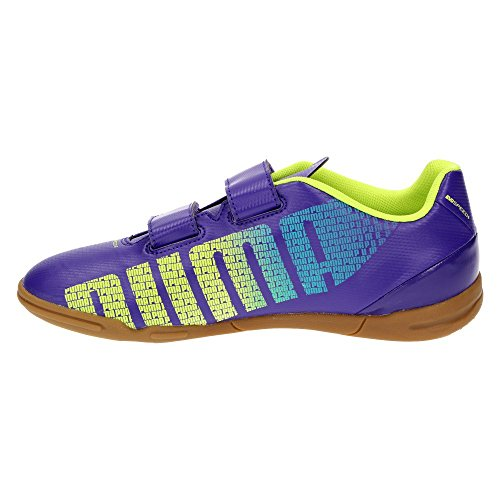 Puma iT evoSPEED 5.3 v jr garçon chaussures sport halle l'école et les loisirs (violet) Violet - Prism violet-yellow-blue