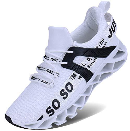 Lingmu Herren Laufschuhe Turnschuhe Fitness Straßenlaufschuhe Sneaker Atmungsaktiv rutschfeste Mode Lässig Sportschuhe
