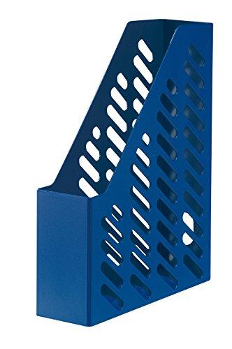 HAN Stehsammler KLASSIK 1601-14 in Blau/Zeitschriftensammler in klassischem Design/Zur geordneten Aufbewahrung von Dokumenten, Heften & Mappen bis Format A4–C4, 10 Stück