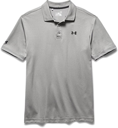 Under Armour Performance T-Shirt Polo da Golf, per Uomo, Grigio/Erica, S