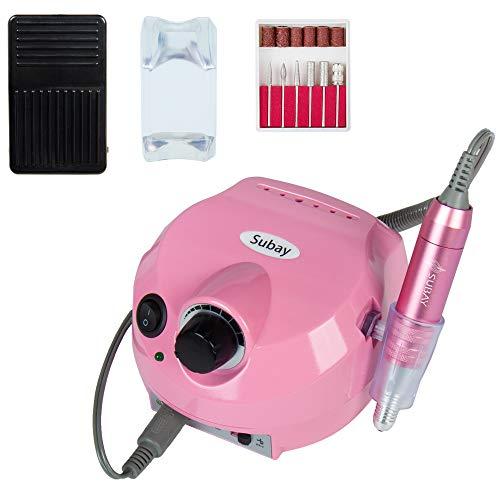 Fresa per ricostruzione unghie professionale bassa vibrazione elettrica manicure pedicure 30.000 giri/min elettrico trapano chiodo lima rosa