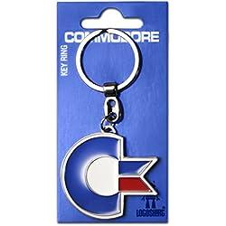 Llavero Commodore Logo - C64 Llavero - Nerd - Key-Ring - coloreado - Diseño original con licencia - Logoshirt