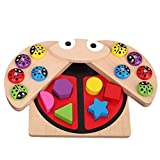 LBCTOYSLBC Baby Fishing Game Early Education Shape Cognitive Pairing Color Perception Building Blocks 2-3-4 years Old Boys and Girls Children Toys