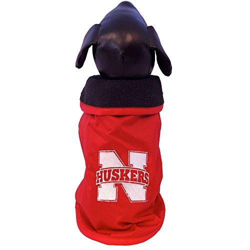 NCAA Nebraska Cornhuskers alle Wetter beständig Schutz Hund Oberbekleidung, Größe XXL