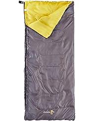 Elementerre DODDLE - Saco de dormir cuadrado, color amarillo/gris, talla 180 x 75