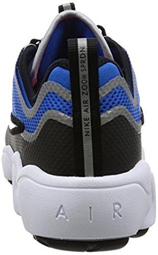 Nike Zoom Spiridon Ultra, Scarpe da Ginnastica Uomo Nero-Grigio-Azzuro