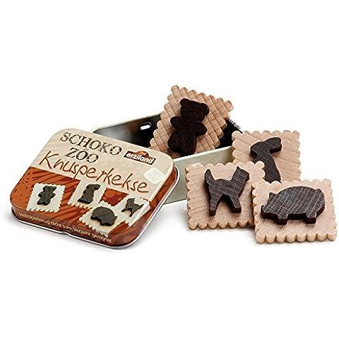 Erzi legno finge il negozio di alimentari biscotti al cioccolato in una merce di latta