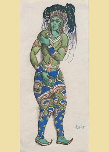 Bakst Kostüm Design für Le Dieu Bleu 250gsm, Hochglanz, A3, vervielfältigtes Poster (Bakst Kostüm Designs)
