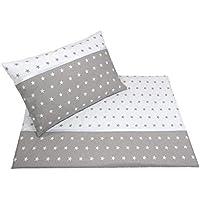 Callyna ® - Parure de lit bébé : housse de couette 120 x 90cm et taie d'oreiller 60 x 40 cm. 100% coton. Callydéale