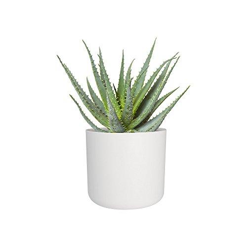b.for soft rund 30cm Blumentopf - weiss