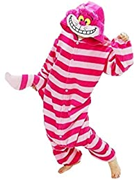 Samgu-Cheshire Cat animal Pyjama Cospaly Party Fleece Costume Deguisement Adulte Unisexe