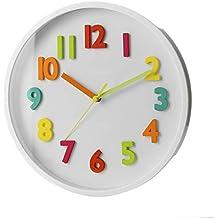967e4d611df3 Reloj de Pared Infantil Blanco de plástico para Dormitorio Child - LOLAhome