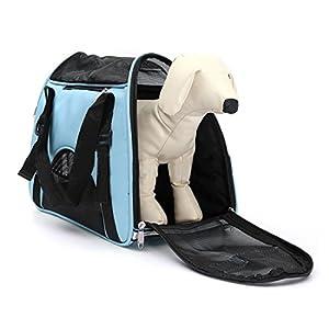 Réglable et pliable Transport souple et confortable pour chien Extérieur Boîte de transport cage de voyage avec fenêtre en maille filet (Taille L)