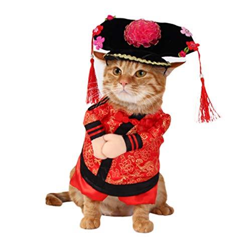 Katze Halloween Kostüme,Party Weihnachten Special Events Kostüm Cosplay gedreht Kleid aufrecht Hund Katze Weihnachten Kleidung Herbst und Winter Kleid Komisch Kleidung ()