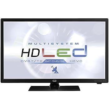 """aa7787229f4522 Trevi LTV 2401 SAT Televisore LED 24"""" con Decoder Digitale Terrestre  DVBT-T2 e Satellitare DVBS-S2, Risoluzione max 1366 x 768 dpi HD Ready, Nero"""