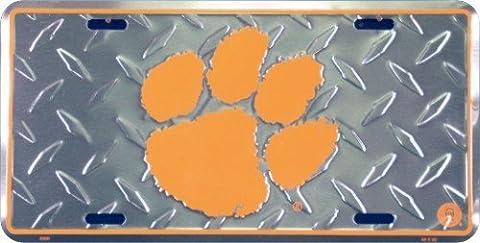 (6x12) Clemson University Diamond Cut NCAA Tin License Plate