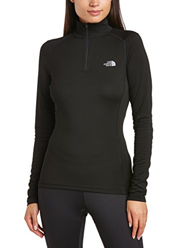 The North Face Damen Baselayer W Warm Long Sleeve Zip Neck, Tnf Black, S, T0C218 (Top Thermo-unterwäsche Polypropylen)