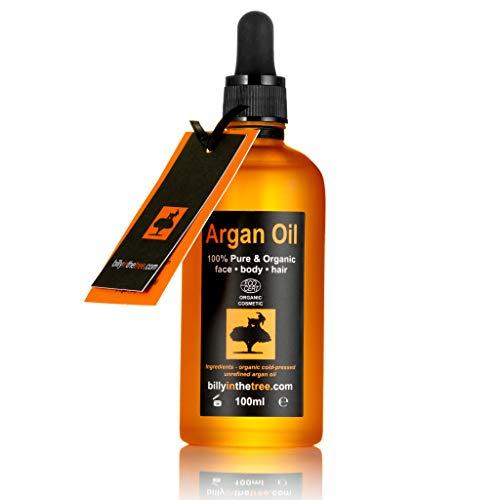 Billy in the Tree-Pure Arganöl-100% organisch-für Gesicht, Körper, die Haar-100ml - Lippen-balsam Spender