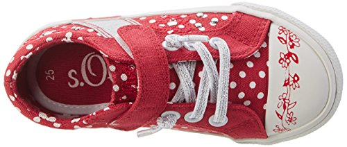 s.Oliver 33204, Sneakers Basses Fille Rouge (RED 500)