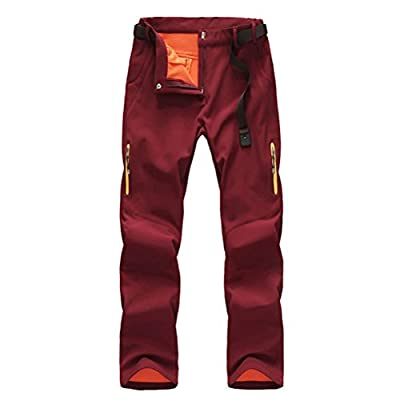 Zhhlinyuan Women's Climbing Hiking Skiing Snow Pants Warm Fleece Water-resistant Windproof Workouts