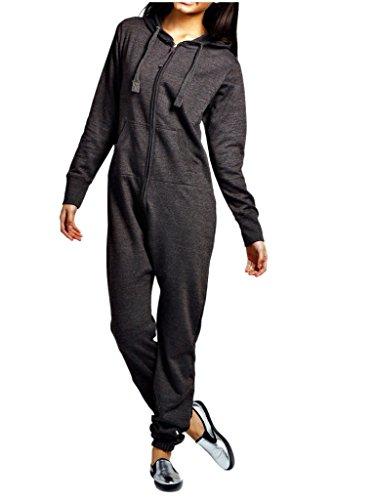 heiße Verkäufe Herren Damen Unisex Overall Kapuzenpullis jumpsuit alle Größen (Holzkohle, M)