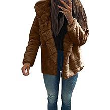 Señoras Espesar Chaqueta De Invierno Outwear Ropa con Abrigo Bastante De Abrigos Capucha Cardigan De Las