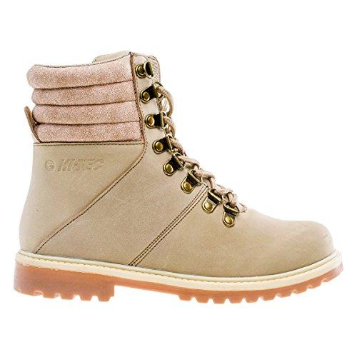 Hi-Tec Kohi Mid Femmes Boots Cuir Chaussures randonnée BergSneaker Beige Chaussures Femme Baskets Top