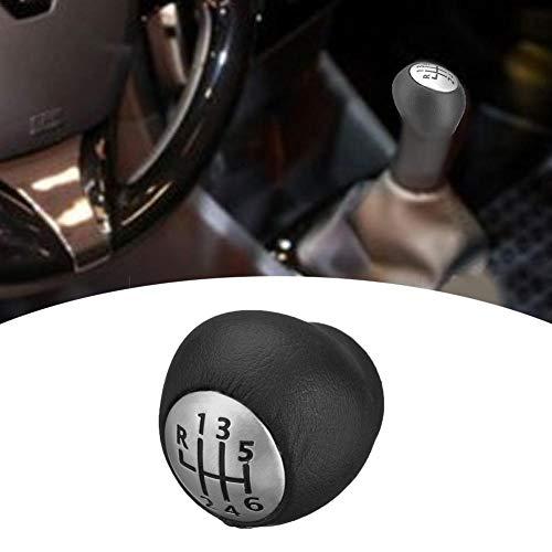 iBoosila Manopola del Cambio a 6 Marce cromata, in Pelle PU Modifica Accessori Styling Bastone Compatibile per Renault Megane Clio Laguna Opel Opel Durab