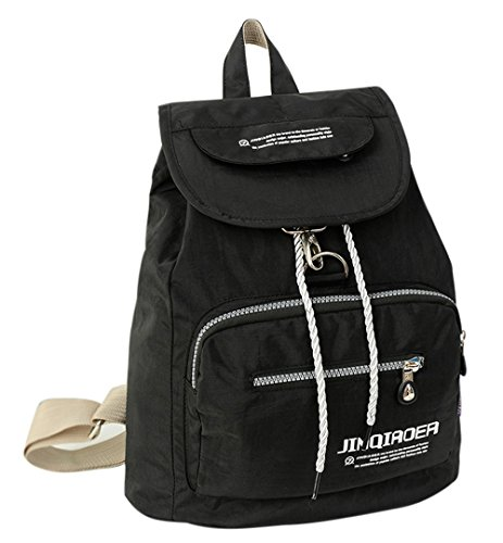 fanselatm-casual-travel-nylon-drawstring-backpack-school-bag-black