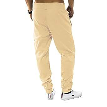 Herren Jogging Hose Fit & Home Sweat Pant Sporthose H1128,Creme,S