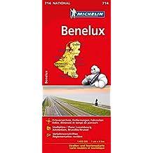 Michelin Benelux: Straßen- und Tourismuskarte (MICHELIN Nationalkarten)