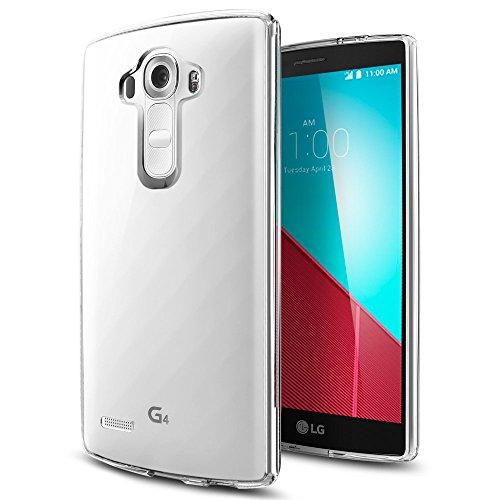 KKtick LG G4 UltraSlim Hülle TPU Durchsichtig Crystal Clear Case Weiches Silikon Schutzhülle Tasche Bumper Cover Handyhülle für LG G4