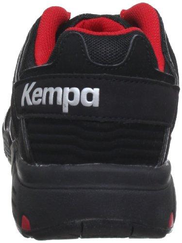 Kempa Stride 200843801, Scarpe da pallamano uomo Nero (Black - Schwarz/schwarz/rot)