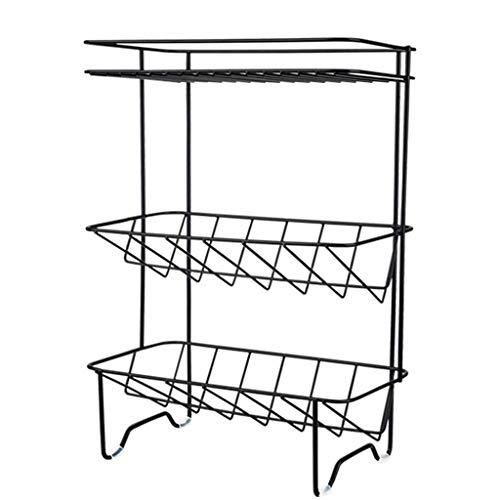 1949shop Küche lagerung Eisen Rack Rack (Farbe: weiß, größe: 33,4 * 24,4 cm)