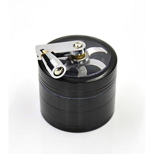 Grinder trituratore tabacco a manovella in metallo 4pezzi 55mm con