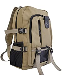 Outdoor Sport Vintage Canvas Military Backpacking Gear Travel Hiking Camping School Bag Backpack