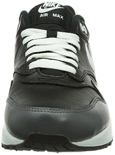 Nike Air Max 1 Ltr 654466 Herren Low-Top Sneaker Schwarz (Black)