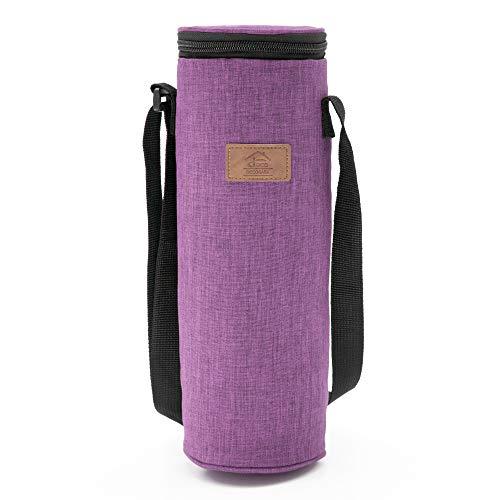 Decocasa - borsa termica porta bevande, refrigeratore per bottiglie di vino, 2 litri, viola, 2 l