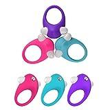 Giochi adulti,Anello di vibrazione del silicone che migliora il giocattolo anale del sesso del silicone del grado medico dell'anello del rubinetto per l'uomo e la donna adulti