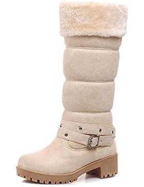 MEILI-Dongkuan stivali da neve caldi con stivali tacco quadrato con gli stivali opaco , white , US5.5 / EU36 /…