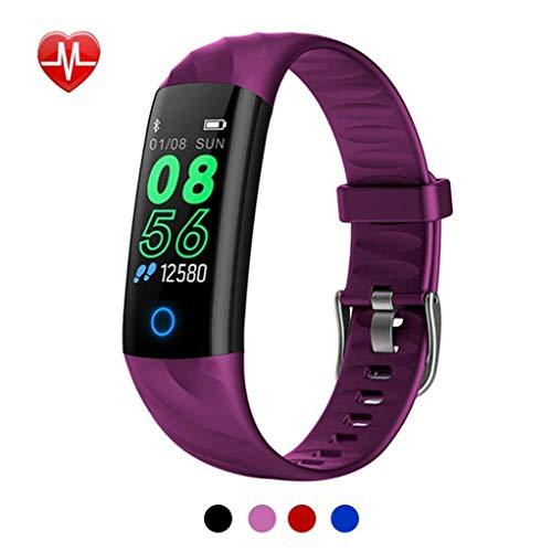 ea16638065ba Rsiosle Intelligente IP68 Impermeabile Fitness Tracker Smart Breathing  Light Heart Rate Monitor della Pressione arteriosa Pedometro