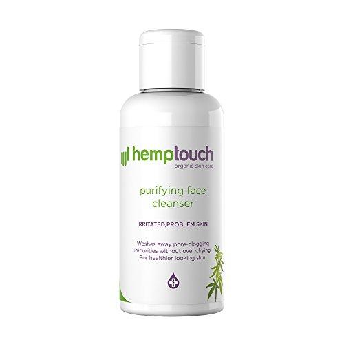 *Hemptouch – biologisches Hanf-Gesichtsreinigungsgel, sanft reinigende Formel für zu Akne neigende Haut und irritierte Problemhaut, Formel mit CBD ÖL Hanföl und Hanfblüten-Hydrolat, 100 ml*