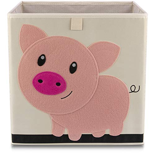 Lifeney Kinder Aufbewahrungsbox I praktische Aufbewahrungsbox für jedes Kinderzimmer I Kinder Spielkiste I Niedliche Spielzeugbox I Korb zur Aufbewahrung von Kinder Spielsachen