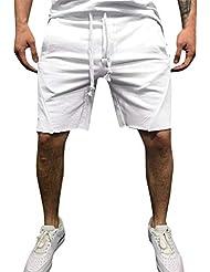 0f8e000574 FRAUIT Pantalones Cortos Deportivos Casual para Hombre Pantalones Cortos de  Jogging Pantalones Cortos de Cintura Elástica