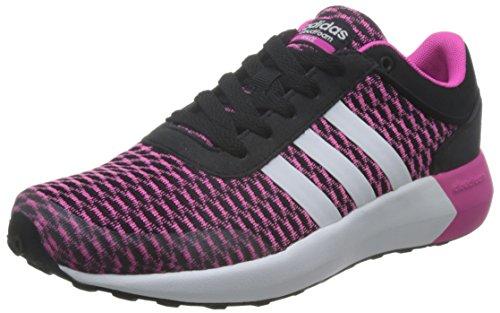 adidas Cloudfoam Race W, Chaussures de Sport Femme Noir (Negbas / Ftwbla / Rosimp)