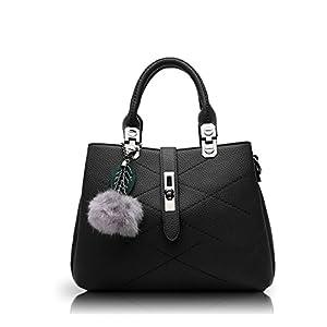 Nicole&Doris 2020 New Wave Women Handbags Messenger Bag Ladies Handbag Female Bag Handbags for Women Pompom Black