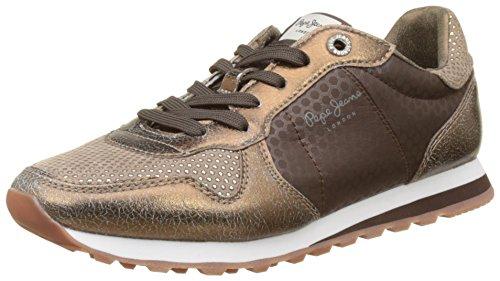 Pepe Jeans Londra Damen Verona Remake Sneaker Braun (dk Brown)