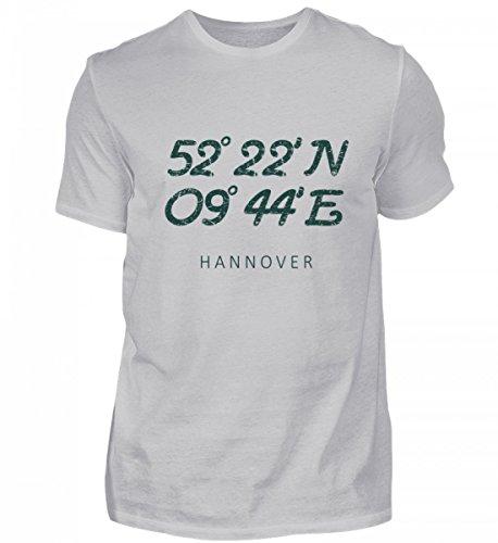 Hannover Vintage Koordinaten - Schönes Geschenk für Hannoveraner - Herren Shirt
