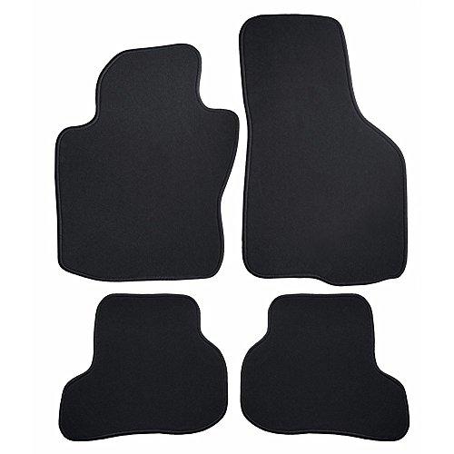 Fussmatten-Deluxe hochwertige Auto Fussmatten Velours Autoteppiche passgenau Velvet schwarz