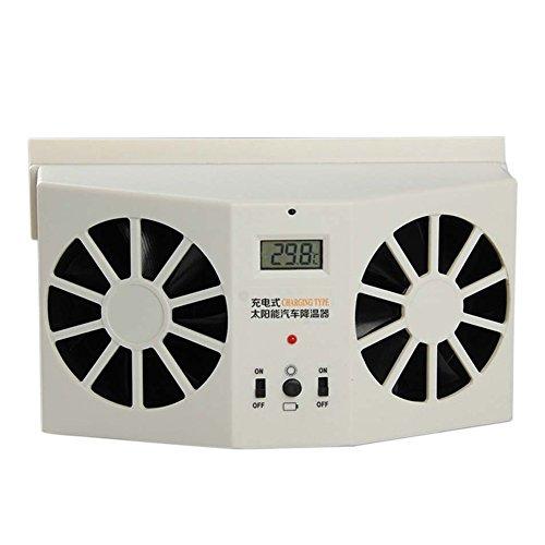 Zantec Solarbetriebene Auto Fenster Entlüftungsventilator Ventilator Kühlventilator (Solar-ventilator)